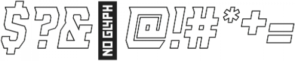 AE Armada Outline Italic otf (400) Font OTHER CHARS