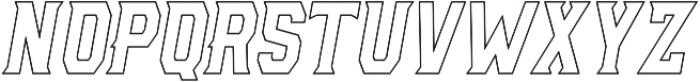 AE Armada Outline Italic otf (400) Font UPPERCASE