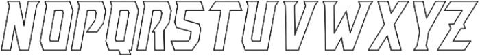 AE Armada Outline Italic otf (400) Font LOWERCASE