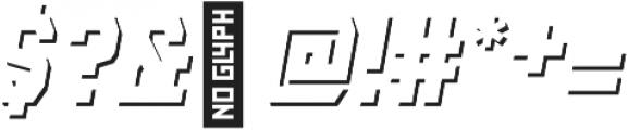 AE Armada Shadow Italic otf (400) Font OTHER CHARS