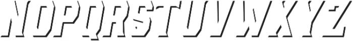 AE Armada Shadow Italic otf (400) Font UPPERCASE