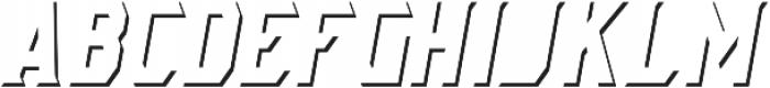 AE Armada Shadow Italic otf (400) Font LOWERCASE