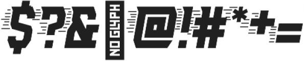 AE Armada Speed Italic otf (400) Font OTHER CHARS