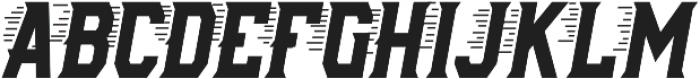 AE Armada Speed Italic otf (400) Font UPPERCASE