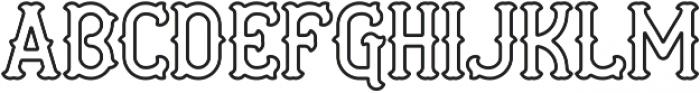 AE Curveball Outline ttf (400) Font UPPERCASE