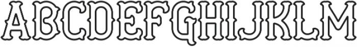 AE Curveball Outline ttf (400) Font LOWERCASE