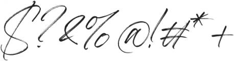 Aerobrush otf (400) Font OTHER CHARS