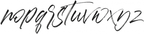 Aerobrush otf (400) Font LOWERCASE