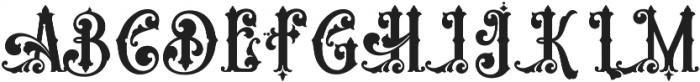 Aesthetique Regular otf (400) Font UPPERCASE