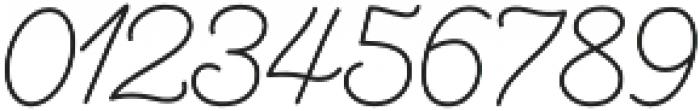 Aether Rain 1 Monoline otf (400) Font OTHER CHARS