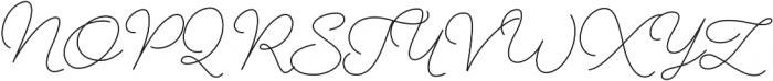 Aether Rain 1 Monoline otf (400) Font UPPERCASE