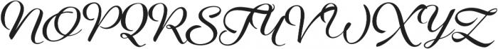 Aether Rain 4 ExtraBold otf (700) Font UPPERCASE