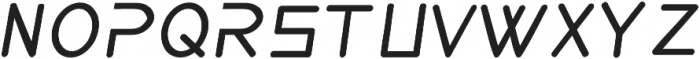 aerodi italic ttf (400) Font UPPERCASE