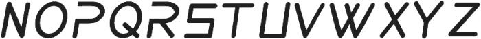 aerodi italic ttf (400) Font LOWERCASE