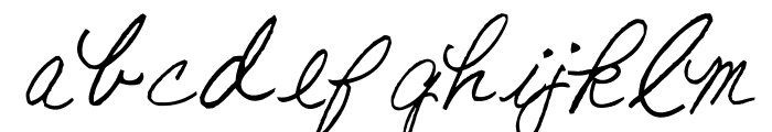 AEZ American Woman Font LOWERCASE