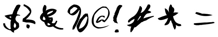 AEZ Jon's Handwriting Font OTHER CHARS