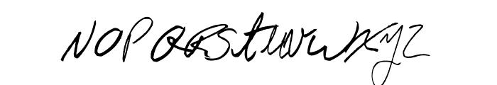 AEZ Jon's Handwriting Font LOWERCASE