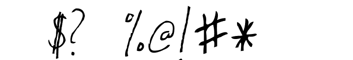 AEZ Kate's Handwriting Font OTHER CHARS