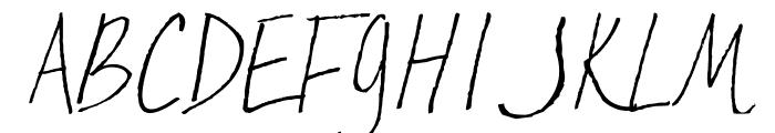 AEZ Kate's Handwriting Font UPPERCASE