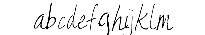 AEZ Kate's Handwriting Font LOWERCASE