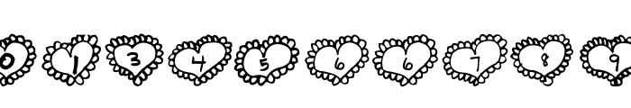 AEZ Lacy Hearts Font OTHER CHARS