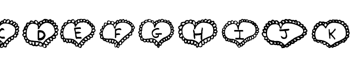 AEZ Lacy Hearts Font UPPERCASE