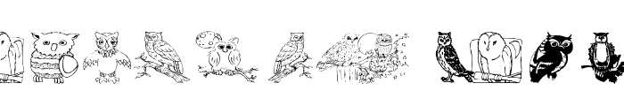 AEZ Owls for Traci Font LOWERCASE
