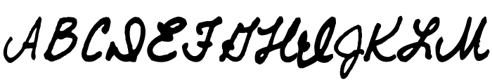 AEZ Traci's Handwriting Font UPPERCASE