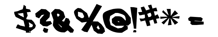 AEZ another font Font OTHER CHARS