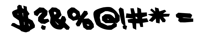 AEZ blocky Font OTHER CHARS