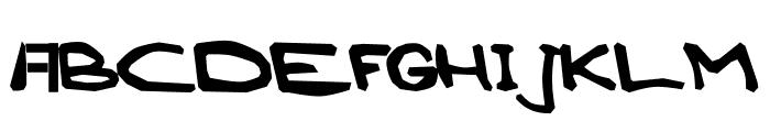 AEZ blocky Font UPPERCASE