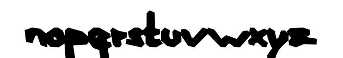 AEZ blocky Font LOWERCASE