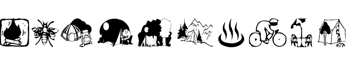 AEZ camping Font LOWERCASE