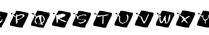 AEZ chalkboard Font UPPERCASE