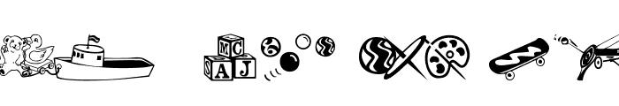 AEZ classical toys Font LOWERCASE