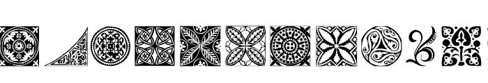 AEZ deco dings Font LOWERCASE