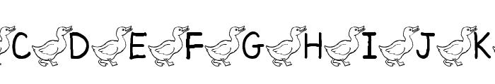 AEZ ducks Font UPPERCASE