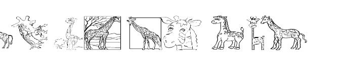 AEZ giraffes Font LOWERCASE