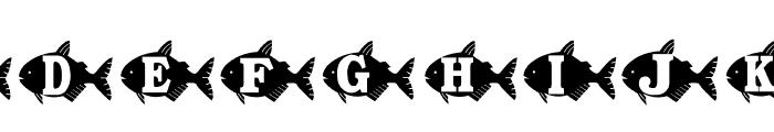 AEZ goldfish Font UPPERCASE