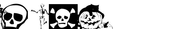 AEZ halloween dingbats Font UPPERCASE