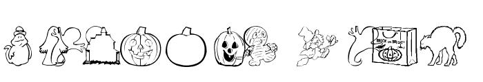 AEZ halloween dingbats Font LOWERCASE