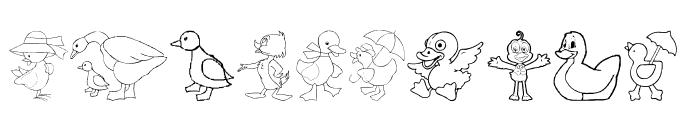 AEZ here ducky, ducky Font UPPERCASE