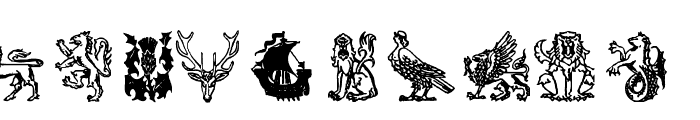 AEZ medieval dings Font OTHER CHARS