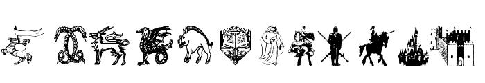 AEZ medieval dings Font LOWERCASE