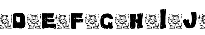 AEZ monster Font UPPERCASE