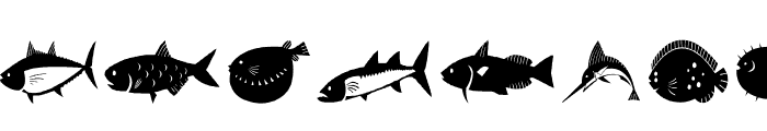 AEZ my pet fish Font LOWERCASE