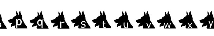 AEZ puppy dog Font LOWERCASE