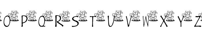 AEZ ruff, ruff Font UPPERCASE
