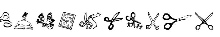 AEZ scrapbooking dings Font LOWERCASE