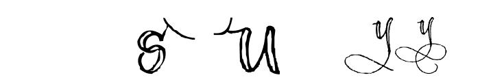 AEZ scripty 2 Font LOWERCASE